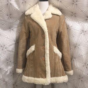 Steve Madden faux fur lined tan Jacket